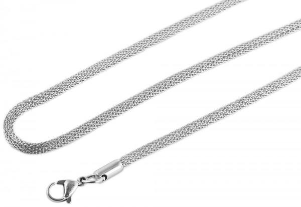 Akzent Edelstahl Damen Schlangenkette, Länge: 0 cm / Stärke: 3 mm