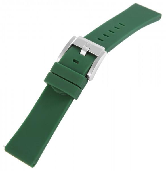 TW Steel Silikon-Uhrenarmband, dunkelgrün, Dornschließe, 22 mm
