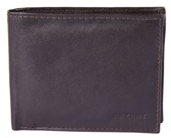 Akzent Herren Geldbörse aus Echtleder. Format 11 x 8 cm.