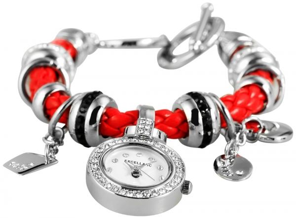 Excellanc Damenuhr mit Lederimitationsarmband