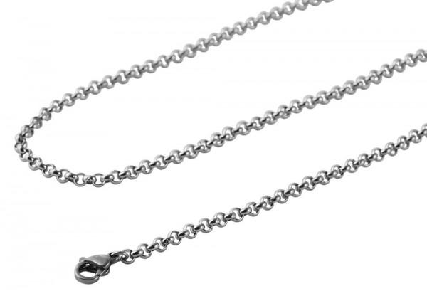 Akzent Edelstahl Damen Erbskette, Länge: 50 cm / Stärke: 3 mm