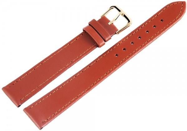 Basic Echtleder Armband in hellbraun, glatt, flach