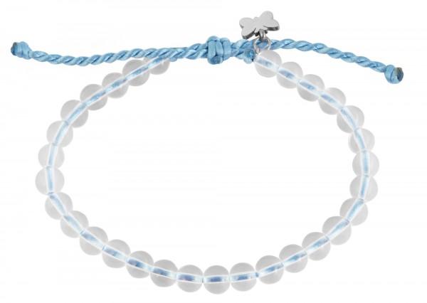 Armband aus Nylon mit Glassperlen aus recyceltem Glas und Edelstahlelementen