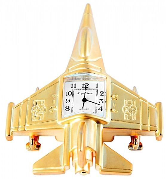 Royaltime Miniaturuhr - Düsenjet - Größe 9,5 cm