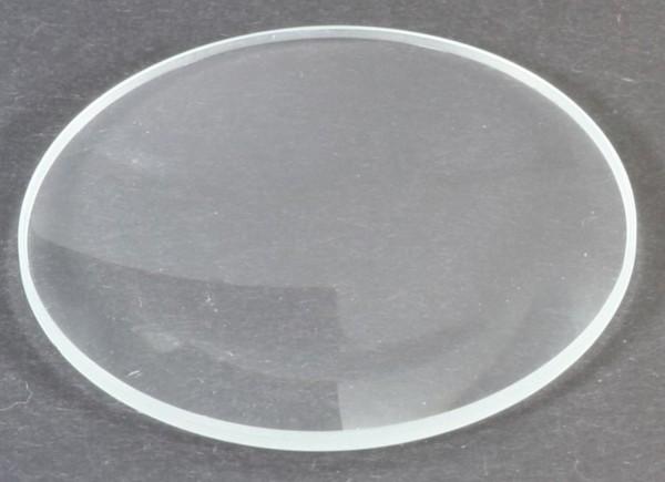 Mineralglas, flach - Durchmesser: 17 mm / Höhe: 1 mm