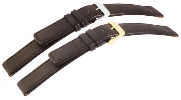 Echtleder-Uhrenarmbänder, dunkelbraun, VE 12, 10 mm - 22 mm
