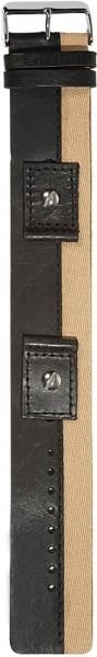 Hochwertiges Echt-Lederband, schwarz/beige, Gr. 18, 20, 22