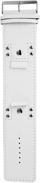 Lederimitation-Uhrenarmband, weiß, Nieten, 22 mm