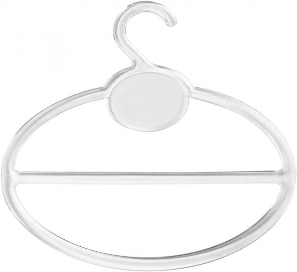 Bügel transparent, für Schals, VE 100