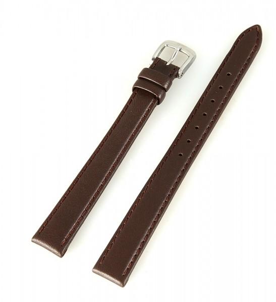 Basic Echtleder Armband in dunkelbraun glatt flach