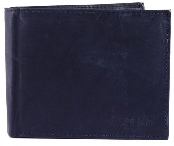Akzent Herren Geldbörse aus Echtleder. Format 12 x 9 cm.
