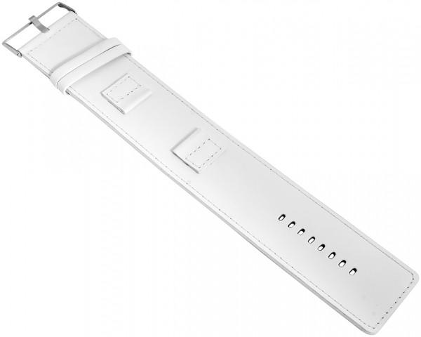 Raptor Echtleder-Uhrenarmband, weiß, 20 mm