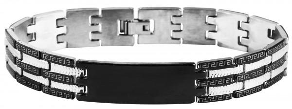 Akzent Gliederarmband aus Edelstahl mit IP Black-Beschichtung