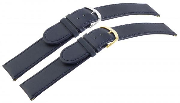 Basic Echtleder Armband in dunkelblau, glatt, flach