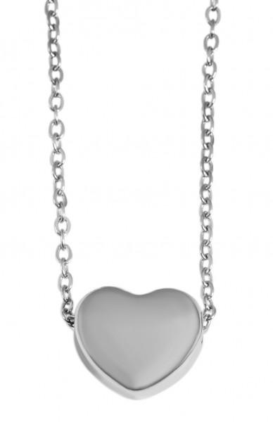 Akzent Edelstahl Halskette, 43+5cm