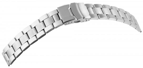 Gliederband Edelstahl Armband in silberf. glatt