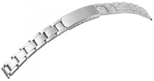 Edelstahl-Uhrenarmbänder, silberfarben, VE 12, 12 mm