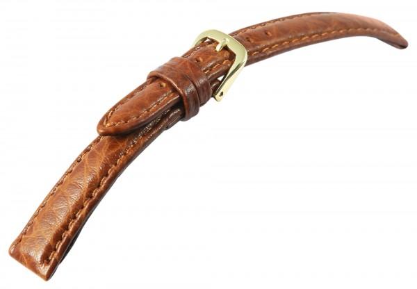 Basic PU-Leder Armband in hellbraun, genarbt, gepolstert