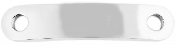 Edelstahl Schnürsenkel Charm, Größe 34,5x 7x1,8 mm, gravurfähig