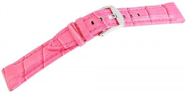 Echtleder-Uhrenarmband, pink, 20 mm