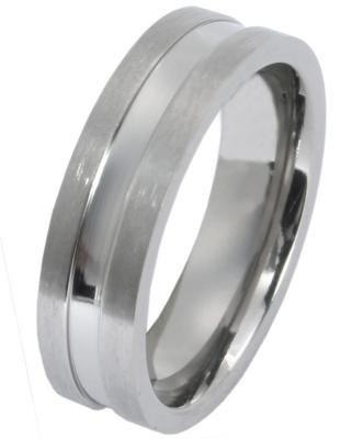Akzent Unisex-Ring aus Titan