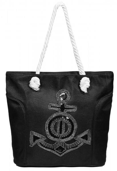 Damen Handtasche aus Textil mit Anker Motiv