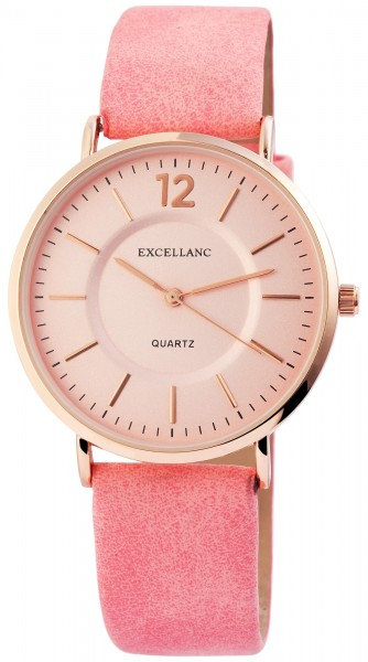 Excellanc Damen Lederimitations Armbanduhr
