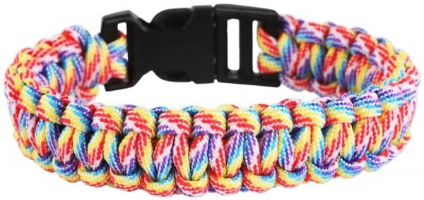 Geflochtenes Armband aus Textil in Mehrfarbig