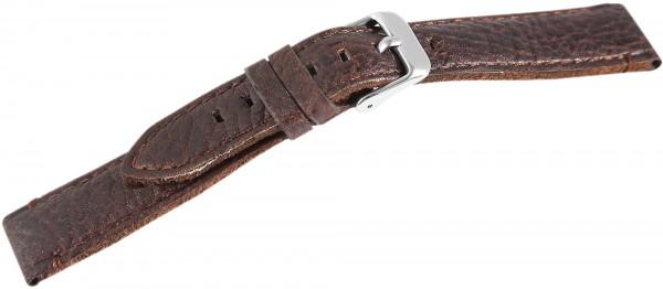 Hochwertiges Echt-Lederband, braun