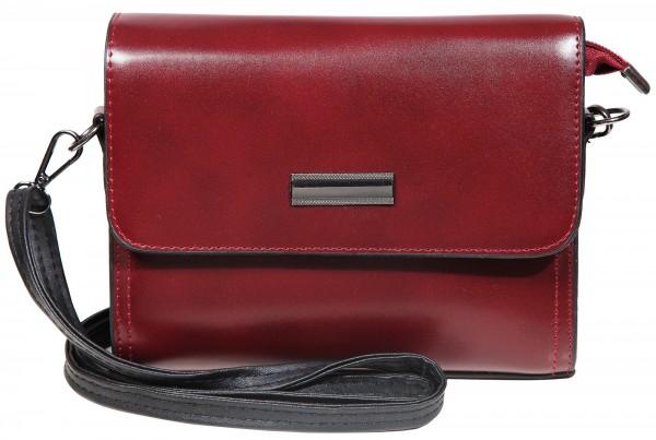 Damen Handtasche aus Lederimitat, Maße: 20 x 13 x 6 cm