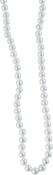 Kunststoff Damen Kugelkette rund, Länge: 40 cm / Stärke: 6 mm