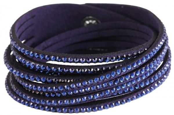 Wickelarmband aus Textil und Metall