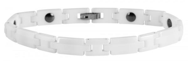 Akzent Gliederarmband aus Keramik in Weiß