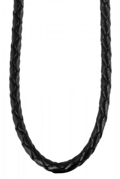 Akzent Edelstahl Leder Halskette