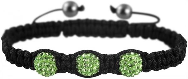 Geflochtenes Armband aus Textil und Kunststoff in Schwarz