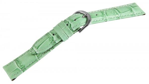 Echtlederband, grün, grüne Naht