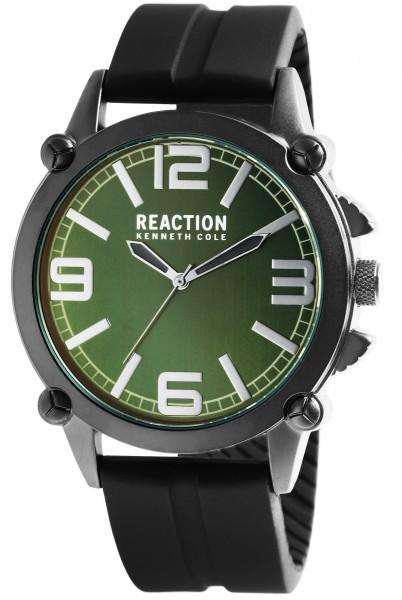 Kenneth Cole Reaction Herrenarmbanduhr, schwarz/grün