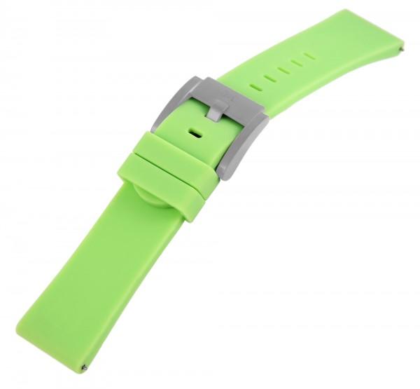TW Steel Silikon-Uhrenarmband, hellgrün, Dornschließe, 22 mm