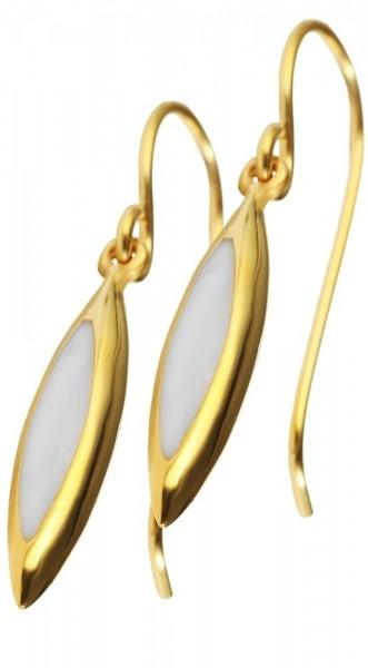 Just Edelstahl Ohrring, IP Gold, goldfarbig