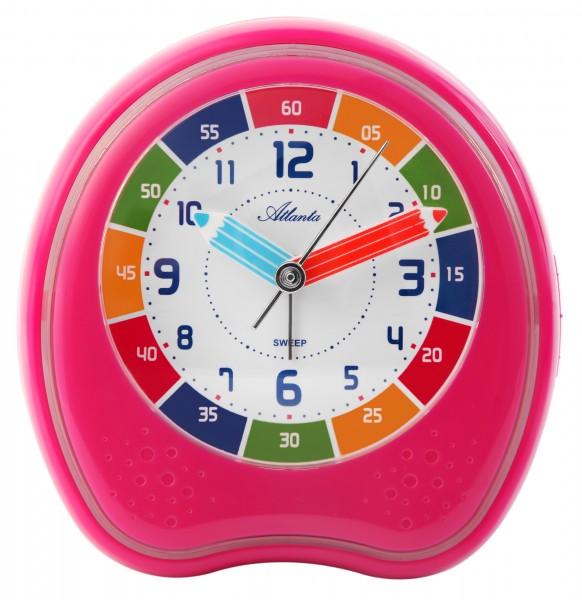 Quarz-Wecker für Kinder in pink