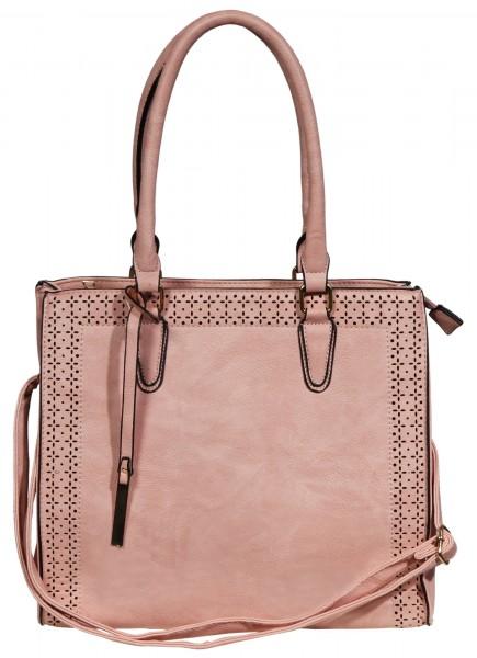 Damen Handtasche aus Lederimitat, Maße: 34x30x12cm