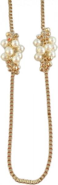 Shaghafi Metall Damen Erbskette, Länge: 90 cm / Stärke: 4 mm