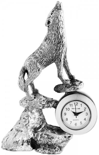 Tavolino Miniaturuhr - Wolf - Größe 9,0 cm