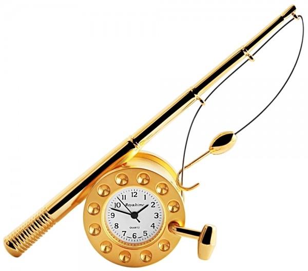 Royaltime Miniaturuhr - Angelrute - Größe 11,0 cm