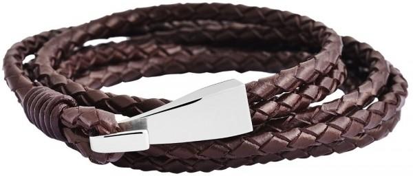 Akzent Echtleder-Wickelarmband