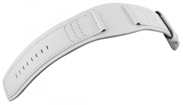 Echtleder-Uhrenarmband, weiß, 28 mm