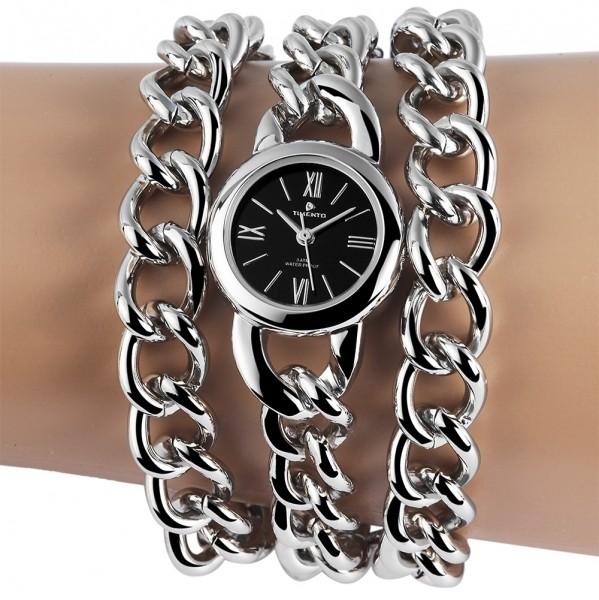 Timento Damenuhr mit Metallkettenarmband