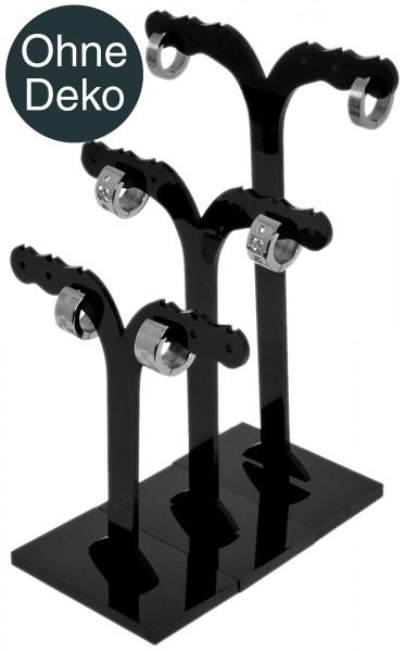 Ohrringe-Aufsteller, schwarz, 3er Set, (ohne Deko)
