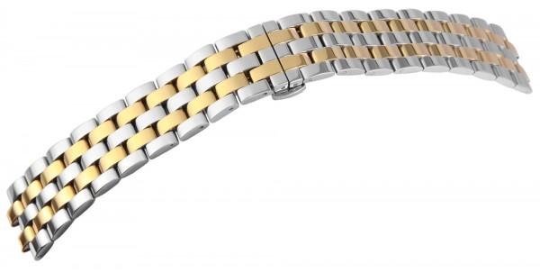 Uhrenarmband aus Edelstahl in bicolor