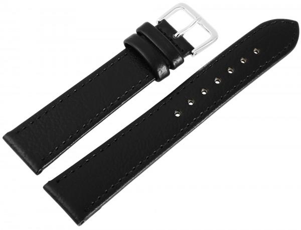 Echtleder-Uhrenarmbänder, schwarz, VE 10, 18 mm